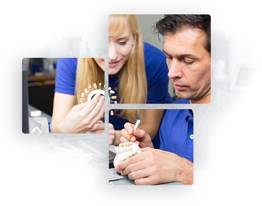 profesionales creando prótesis